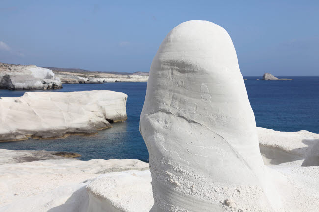RRS300433S © Stocktrek Images, Inc. White tuff formations sculpted by erosion, Sarakiniko beach, Milos, Greece.