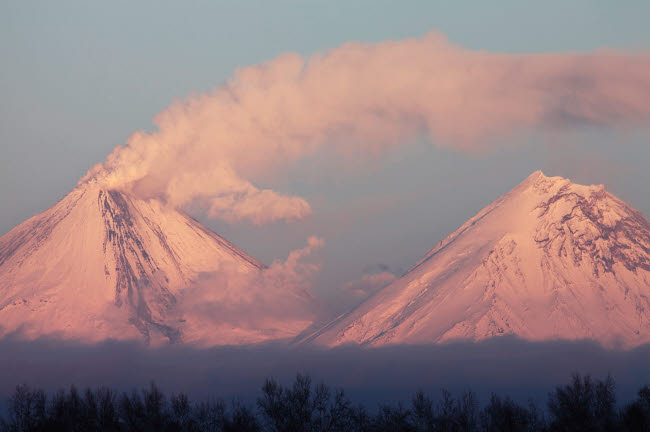 RRS300569S © Stocktrek Images, Inc. Eruption of Kliuchevskoi Volcano, Kamchatka, Russia.