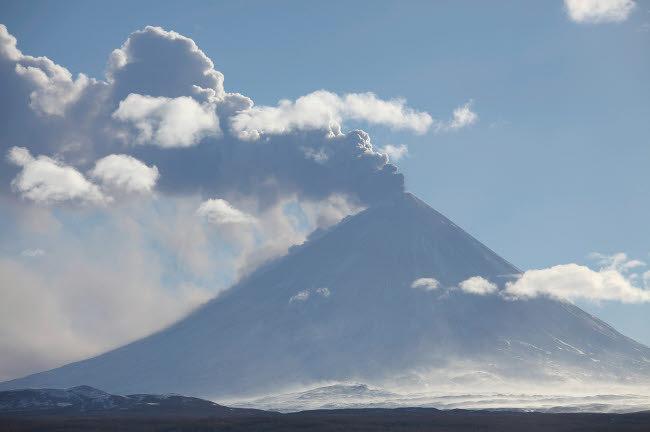 RRS300573S © Stocktrek Images, Inc. Eruption of Kliuchevskoi Volcano, Kamchatka, Russia.