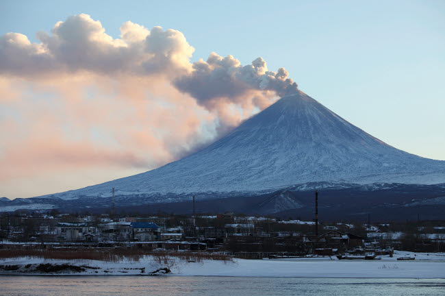 RRS300578S © Stocktrek Images, Inc. Eruption of Kliuchevskoi Volcano, Kamchatka, Russia.