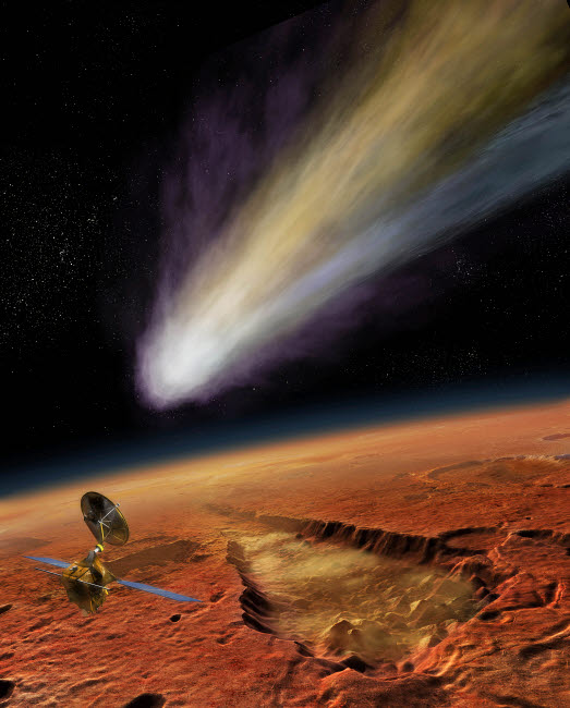 SHB100024S © Stocktrek Images, Inc. 2014 Comet over Aromatum, Mars
