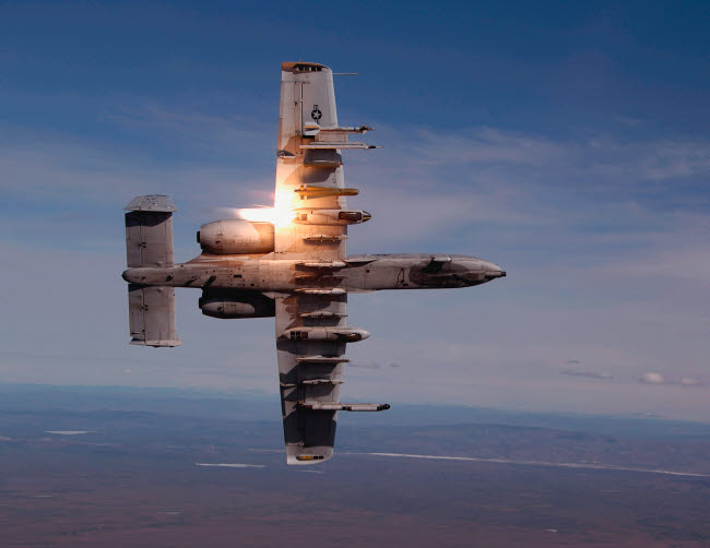 STK102357M © Stocktrek Images, Inc. A pilot fires a missile in an A-10 Thunderbolt II.