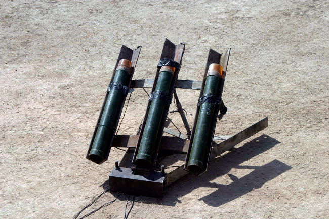 STK102394M © Stocktrek Images, Inc. An improvised rocket launcher used by anti-coalition forces.