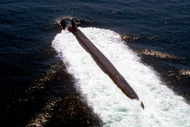 STK102414M © Stocktrek Images, Inc. The nuclear-powered ballistic missile submarine USS Pennsylvania.