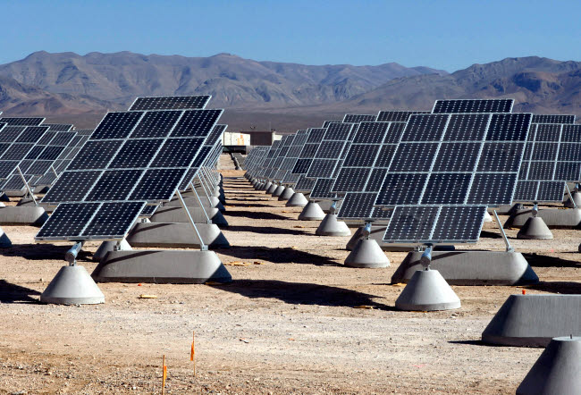 STK102664M © Stocktrek Images, Inc. Photovoltaic solar power plant.