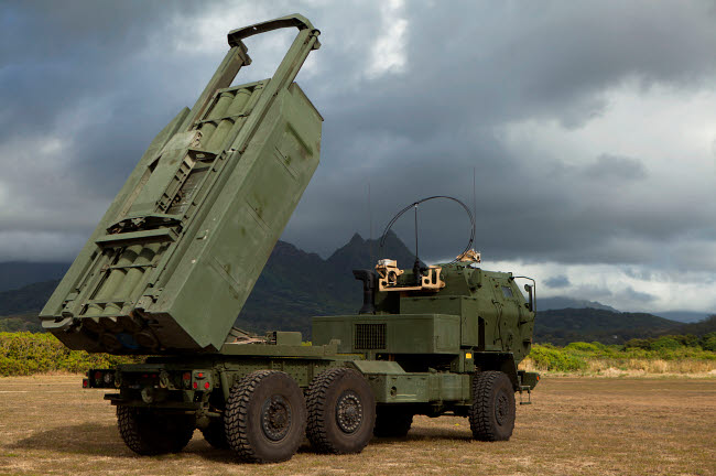 STK108704M © Stocktrek Images, Inc. A M142 High Mobility Artillery Rocket System.