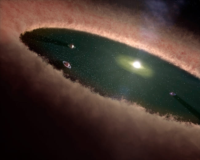 STK201440S © Stocktrek Images, Inc. A gap in a protoplanetary, or planet-forming, disk surrounding a young star.
