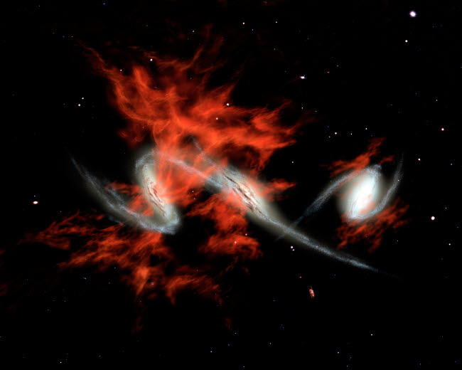 STK201453S © Stocktrek Images, Inc. Giant galactic blobs.
