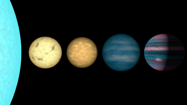 STK201463S © Stocktrek Images, Inc. An artist's rendition comparing brown dwarfs to stars and planets.