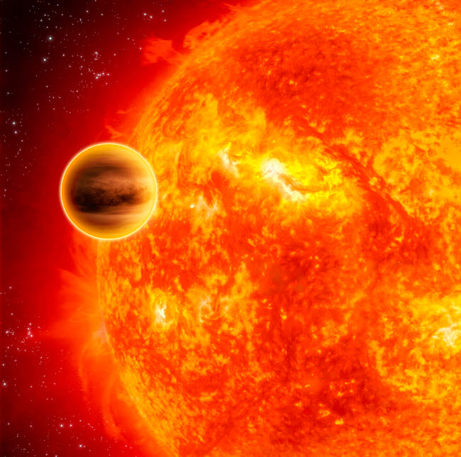 STK201518S © Stocktrek Images, Inc. A gas-giant exoplanet transiting across the face of its star.