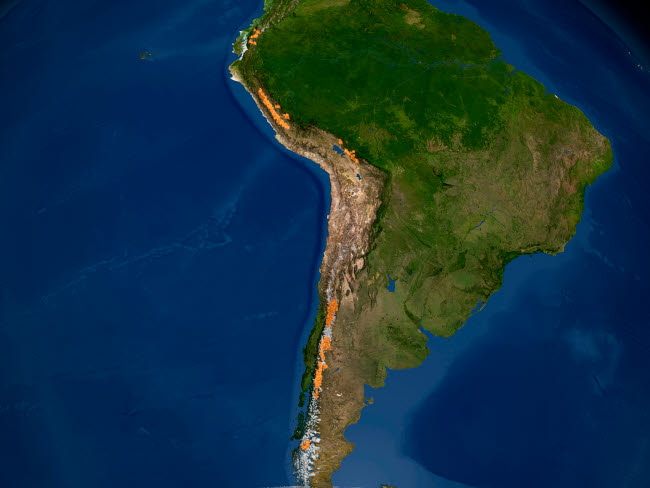 STK202092S © Stocktrek Images, Inc. Glaciers in regions of South America.