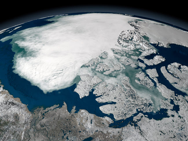 STK202109S © Stocktrek Images, Inc. Arctic sea ice above North America