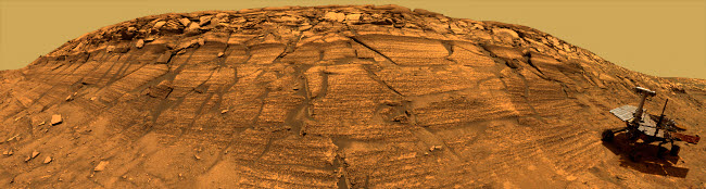 STK202114S © Stocktrek Images, Inc. Mars Exploration Rover Opportunity inside Endurance Crater