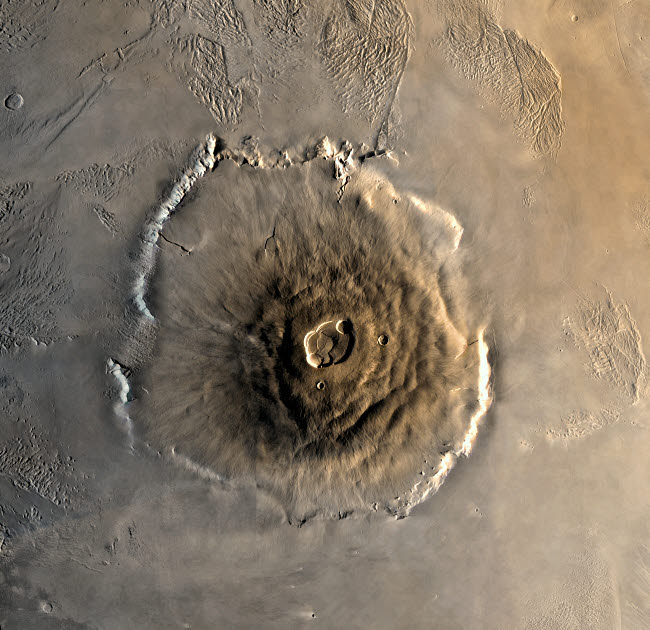 STK202200S © Stocktrek Images, Inc. The largest known volcano in the solar system, Olympus Mons.