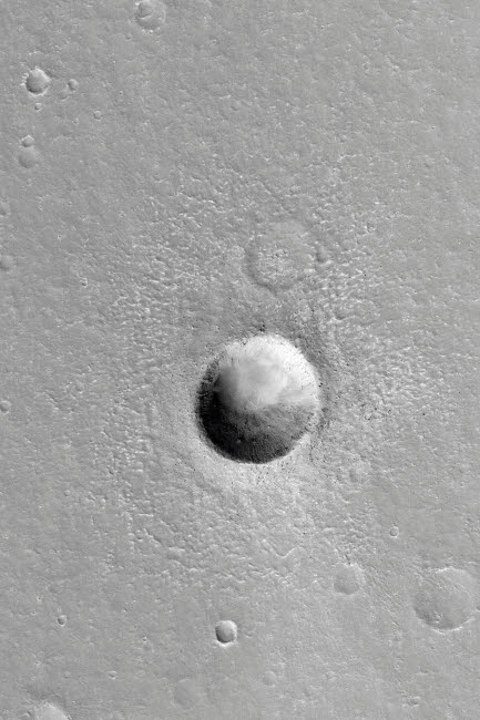 STK202253S © Stocktrek Images, Inc. Martian Meteor Crater on Mars.