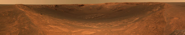 STK202256S © Stocktrek Images, Inc. Impact crater Endurance on the surface of Mars.