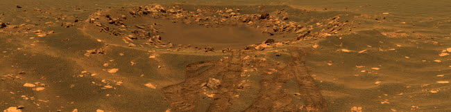 STK202258S © Stocktrek Images, Inc. An impact crater in the Meridian Planum region of Mars.