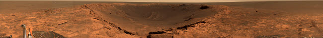 STK202263S © Stocktrek Images, Inc. Panoramic view of Mars showing the Endurance Crater.