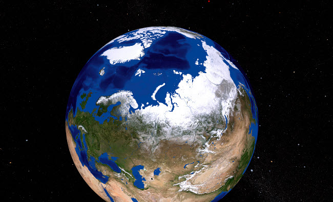 STK202327S © Stocktrek Images, Inc. View of Earth showing the Arctic region.