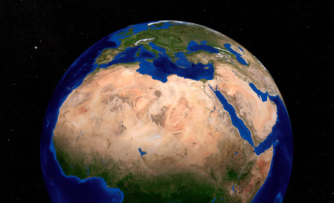 STK202329S © Stocktrek Images, Inc. The Blue Marble Next Generation Earth showing North Africa.
