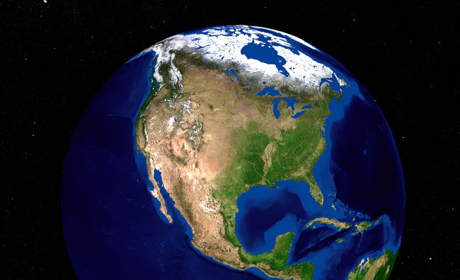 STK202330S © Stocktrek Images, Inc. The Blue Marble Next Generation Earth showing North America.