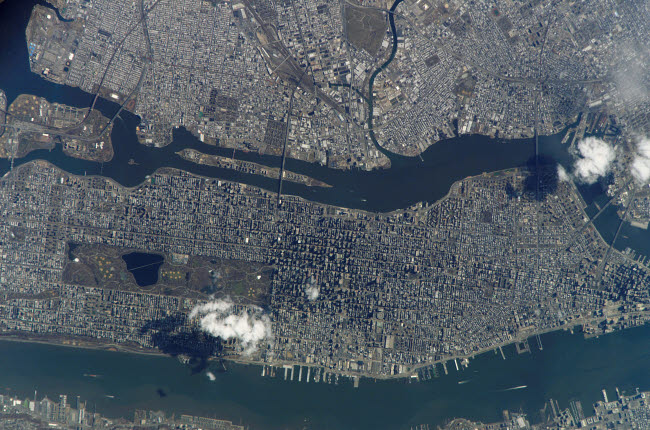STK202602S © Stocktrek Images, Inc. Manhattan Island and its easily recognizable Central Park.