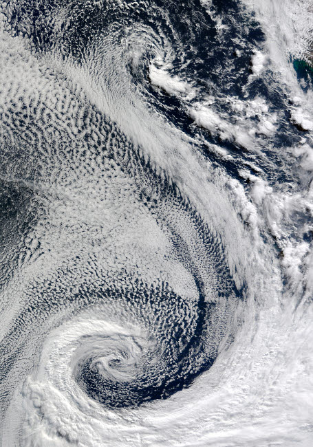 STK202630S © Stocktrek Images, Inc. The sprawling S-shaped swirl is actually two cyclones that seem to be feeding on each other.