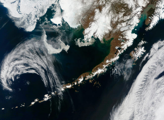 STK202632S © Stocktrek Images, Inc. The Alaskan Peninsula and Aleutian Islands.