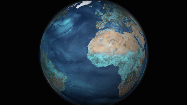STK203175S © Stocktrek Images, Inc. Full Earth showing evaporation over the Atlantic Ocean and the surrounding continents.