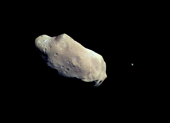 STK203457S © Stocktrek Images, Inc. Asteroid 243 Ida and its moon Dactyl.