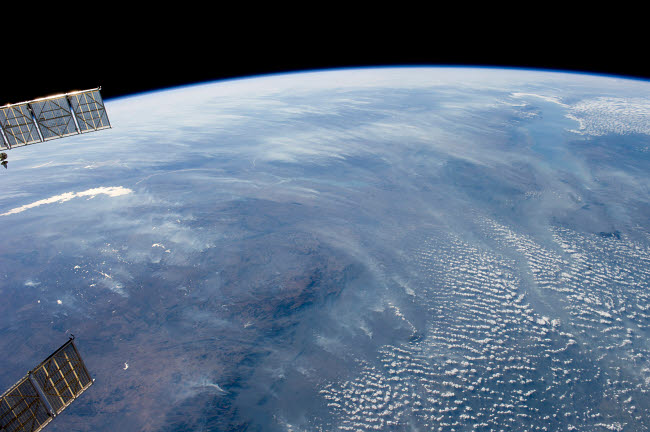 STK203780S © Stocktrek Images, Inc. A smoke pall dominates this view of tropical southern Africa.