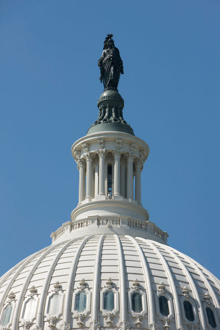 TMO100817M © Stocktrek Images, Inc. The United States Capitol building dome and statue.