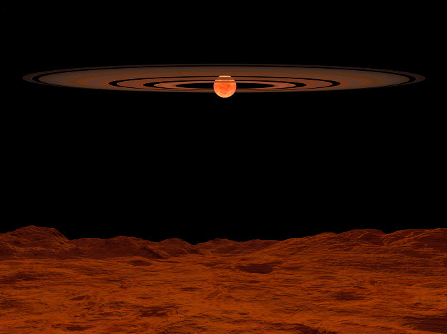 WMY100006S © Stocktrek Images, Inc. A view across a hypothetical barren alien planet towards a brown dwarf in the sky.