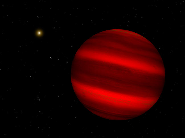 WMY100023S © Stocktrek Images, Inc. Artist's concept of the brown dwarf Gliese 229 b.
