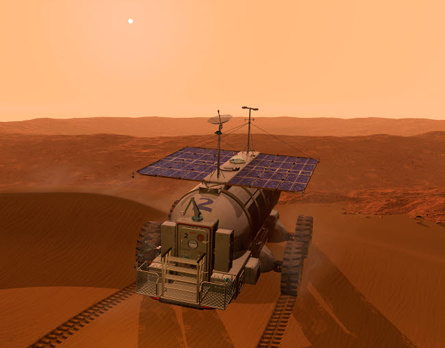 WMY100052S © Stocktrek Images, Inc. Artist's concept of a martian rover.