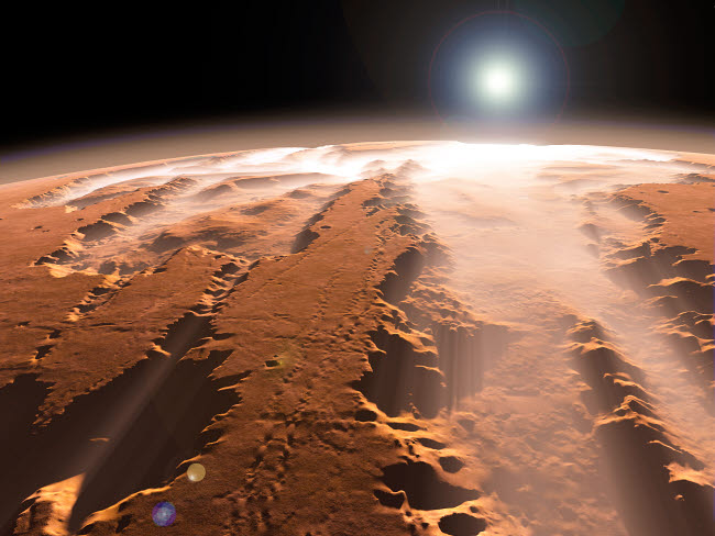 WMY100064S © Stocktrek Images, Inc. Artist's concept of the Valles Marineris canyons on Mars.