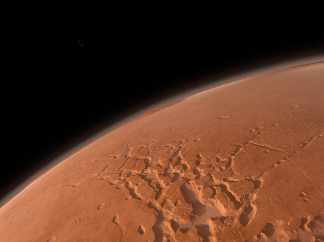 WMY100065S © Stocktrek Images, Inc. Mars' Valles Marineris is host to the largest canyons in the Solar System.