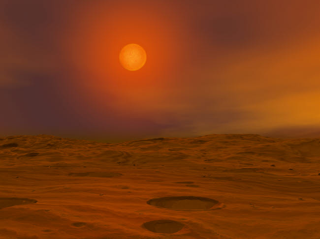 WMY100097S © Stocktrek Images, Inc. Artist's concept of Teide 1 from the surface of a hypothetical Mars-like planet.