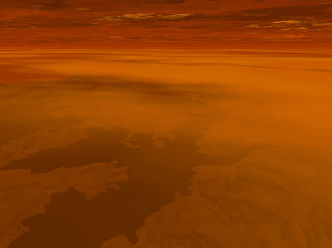 WMY100105S © Stocktrek Images, Inc. Artist's concept of the surface of Saturn's moon Titan.