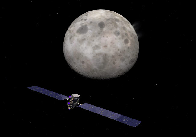 WMY100297S © Stocktrek Images, Inc. Artist's concept of Dawn spacecraft approaching the dwarf planet Ceres.