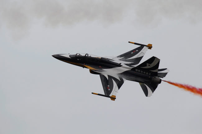 ZDN100102M © Stocktrek Images, Inc. A T-50 Golden Eagle from the Republic of Korea Air Force Aerobatic Team.