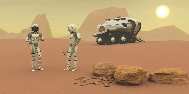 CFR100343S © Stocktrek Images, Inc. Two intrepid explorers discuss the next phase of their exploration of Mars.