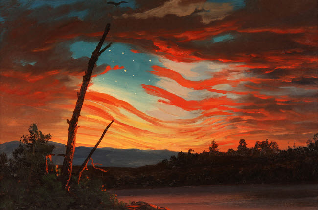 JPA101093M © Stocktrek Images, Inc. Patriotic and symbolic painting after the attack on Fort Sumter.