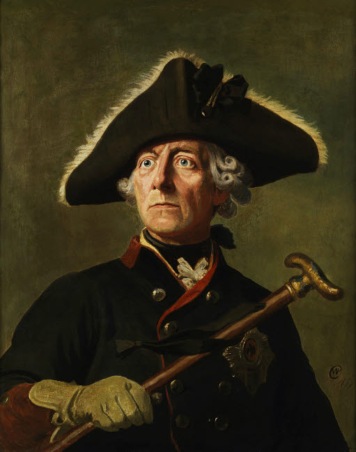 JPA101275M © Stocktrek Images, Inc. Vintage painting of Frederick the Great of Prussia.