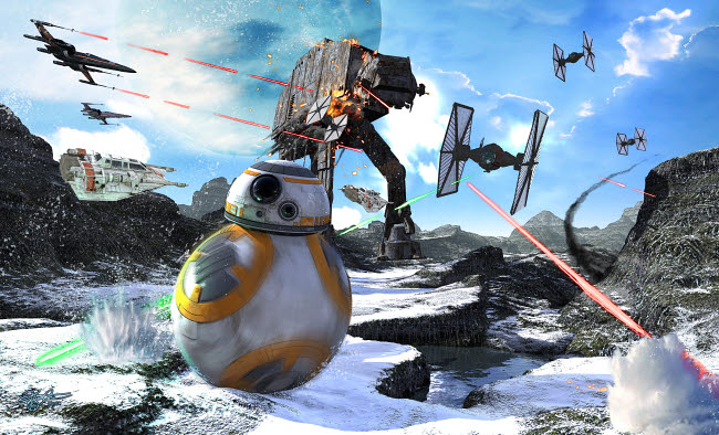 KRT200015S © Stocktrek Images, Inc. BB-8 escaping the Empire rath.