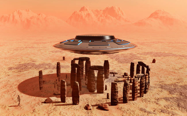 MAS200240S © Stocktrek Images, Inc. A stone circle, similar to Stonehenge, found on the surface of Mars.