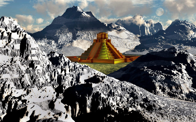 MAS200243S © Stocktrek Images, Inc. The legendary South American golden city of El Dorado in the winter.