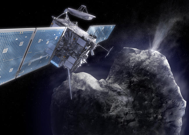 SHB100034S © Stocktrek Images, Inc. The Rosetta probe arrives at its destination and begins to explore a comet up close.