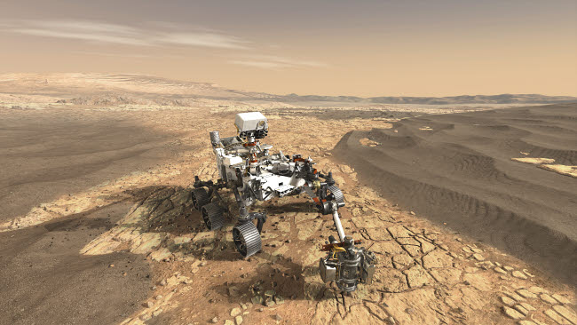 STK204773S © Stocktrek Images, Inc. This artist's concept depicts NASA's Mars 2020 rover on the surface of Mars.
