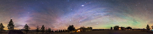 ADY200278S © Stocktrek Images, Inc. Panorama of the celestial night sky in southwest New Mexico.
